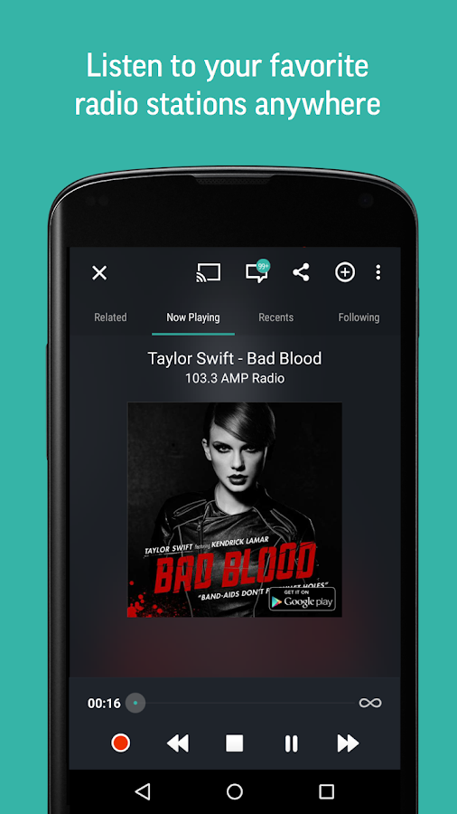 TuneIn Radio Pro - Live Radio Screenshot 0
