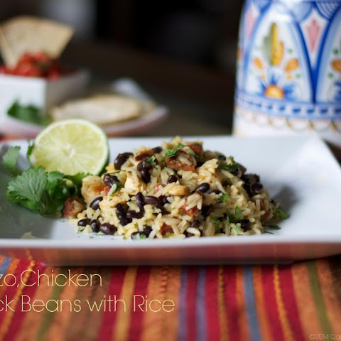 Chorizo, Chicken and Black Beans with Rice