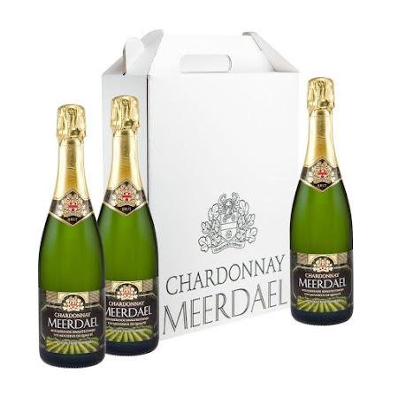 Witte geschenkverpakking Chardonnay Meerdael (3 flessen)