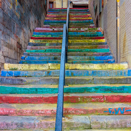 stairs of hits by Roberto Gonzalo Romero - City,  Street & Park  Historic Districts ( music, stairs )