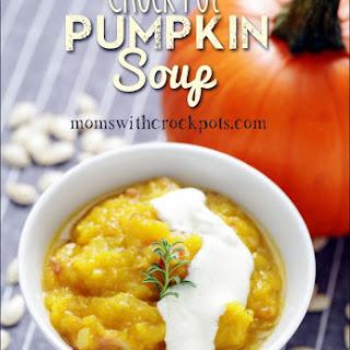 Crock Pot Pumpkin Soup Soup Recipes