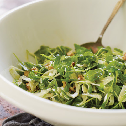 Shaved Fennel & Arugula Salad with Toasted Walnuts