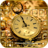 App Gold Keyboard theme Gold Watch APK for Windows Phone