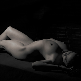 Body scape  by Jason Elphick - Nudes & Boudoir Artistic Nude ( sexy, nude, fitness, black and white )