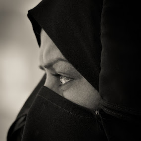 Numbing the pain for a while will make it worse when you finally feel it... by Yuni  Khan - People Street & Candids ( women freedom, yuni khan, hijab in islam, yuni's photography, veil for muslims, women in pain )