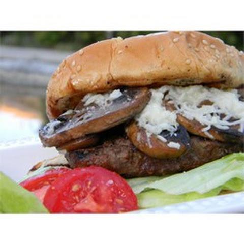Grilled Mushroom Swiss Burgers