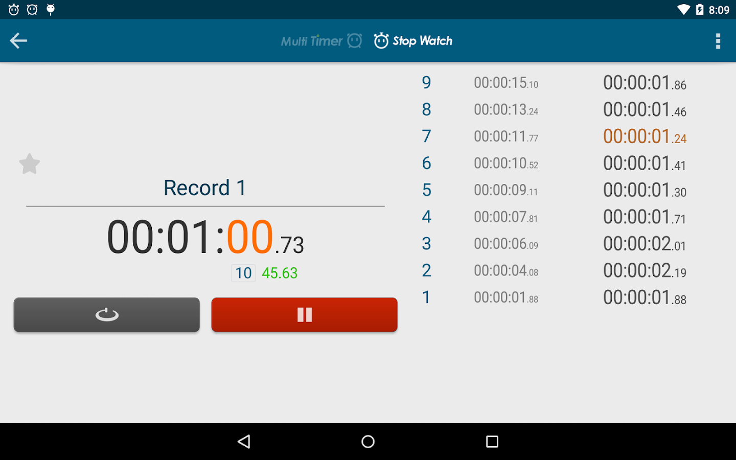 Multi Timer StopWatch Screenshot 15