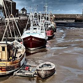 Fishing by Simon Franks - Transportation Boats