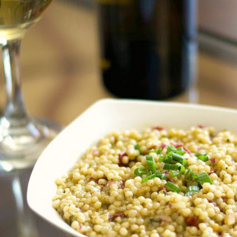 Basil Pearled Couscous Salad with Sun Dried Tomatoes