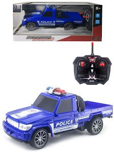 """Игрушка-радиуправляемая машинка серии """"Город Игр"""", полицейский пикап, синий"""
