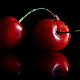 Cherry duo by Pradeep Kumar - Food & Drink Fruits & Vegetables