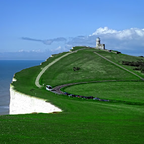 Belle Tout Lighthouse, East Sussex by Ludwig Wagner - Travel Locations Landmarks ( water, england, pwclandmarks, cliff, lighthouse, sea, ocean, belle tout )