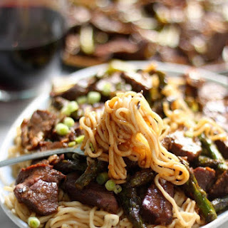 Steak & Asparagus Teriyaki Ramen Recipe.