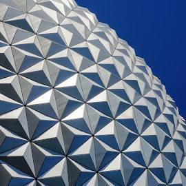 Geodesic  by Matthew Sweetser - Abstract Patterns ( abstract, spaceship earth, pattern, epcot, architecture )