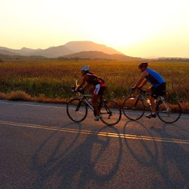 Refuge Ride by Kathy Suttles - Sports & Fitness Cycling ( cyclist, riders, wmwr, morning ride, oklahoma, suttleimpressions )
