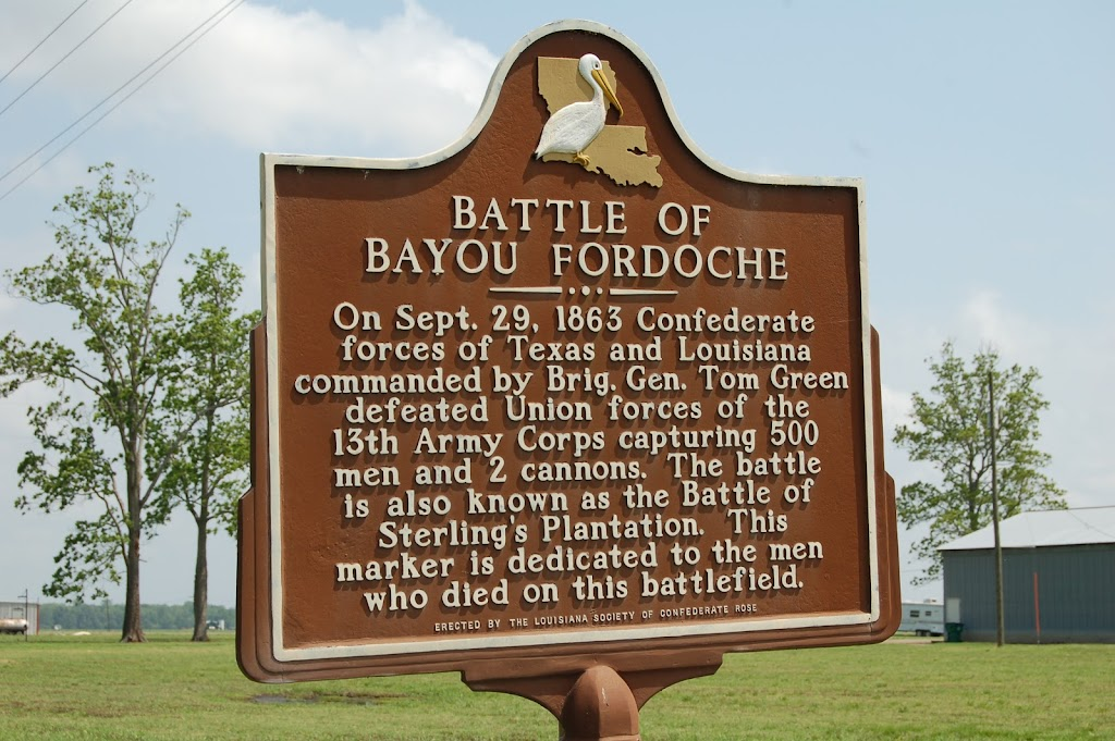 On Sept. 29, 1863 Confederate forces of Texas and Louisiana commanded by Brig. Gen. Tom Green defeated Union forces of the 13th Army Corps capturing 500 men and 2 cannons. The battle is also known ...