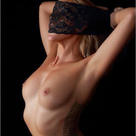 Danni & black lace by Clifford Els - Nudes & Boudoir Artistic Nude