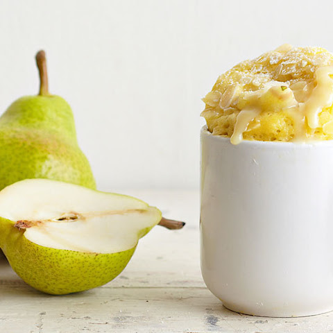 Pear And Almond Microwave Mug Cake