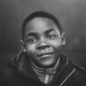 Jamal by Rafał Wójcicki - Babies & Children Child Portraits ( natural light, blackandwhite, rafalwojcicki, dublin, kids, nikon, light, portrait )