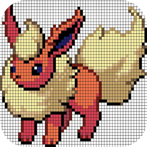 Color By Number Sandbox Coloring Poké