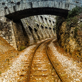 railway and bridge  by Antonello Madau - Instagram & Mobile iPhone