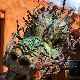 dragon by Susan Marshall - Buildings & Architecture Statues & Monuments ( colour, statue, art, dragon, santa fe )