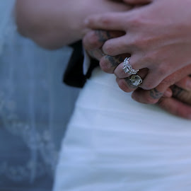 hooked  by Laura Burnett - Wedding Details ( hands, rings, close up, posed, nonface )