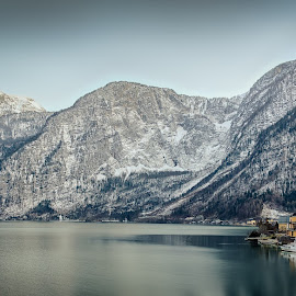 Hallstatt Panorama by Christian Stürzl - Landscapes Travel ( mountains, winter, village, snow, sea, lake, hallstatt, seascape, unesco, austria, alps )