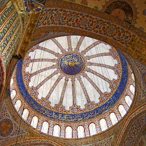 Blue Mosque Interior by Dee Haun - Buildings & Architecture Places of Worship ( v2961c1e1, interior, blue mosque, blue, mosque, tamron 18-200, 2011, istanbul, turkey, sony a55v, buildings & architecture, places of worship,  )