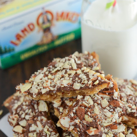 Buttery Toffee with Almonds and Chocolate