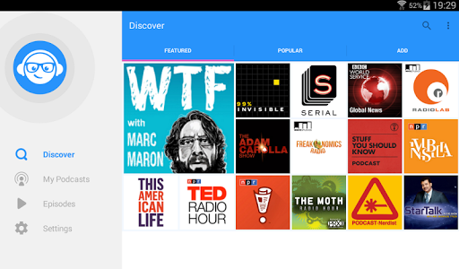 WeCast - Podcasts - screenshot