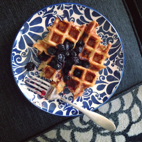 Coconut Lemon Oatmeal Waffles