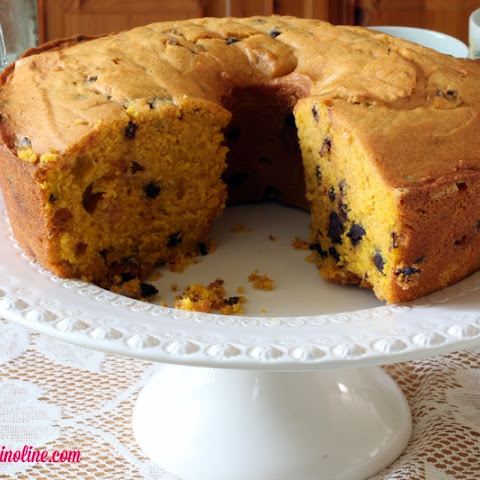 Moist and Delicious Pumpkin Cake with Chocolate Chip Trio