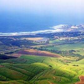 KZN from a little plane by Ingrid Anderson-Riley - Landscapes Travel