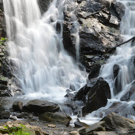 The Falls at Antietam Lake by Dean Germann - Landscapes Waterscapes ( waterfall, outdoors, creek, scenic, woods )