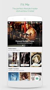 FitMe : Workouts & Pedometers Fitness app screenshot for Android