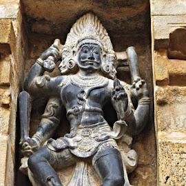 fierce god by Venkat Krish - Buildings & Architecture Statues & Monuments ( #wall, #stone, #architecture, #god, #statue, #sculpture, #temple, #building )