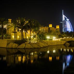 Burj Al Arab by Habashy Photography - Travel Locations Landmarks ( arab, dubai, burj, night, lights,  )