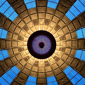 Skylight at West Baden by Lorna Littrell - Abstract Patterns ( abstract curves, abstract, glass art, abstract art, glass, skylight,  )