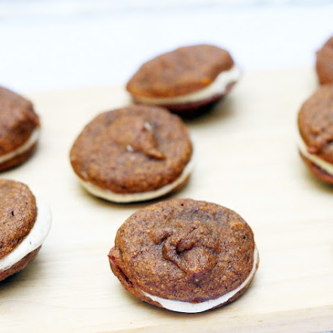 Mini Pumpkin Whoopie Pies with Mape Yogurt Filling