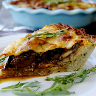 Mushroom and Bacon Savory Pie with Potato Crust