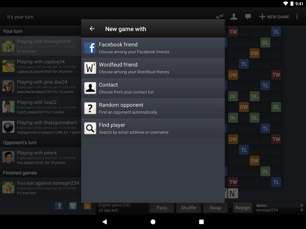 Wordfeud Screenshot 10