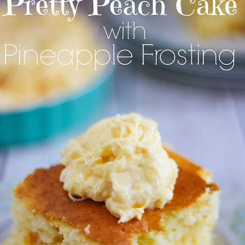 Pretty Peach Cake with Pineapple Frosting