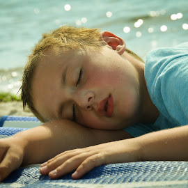 Nap by the Seashore by Colleen Bruso - Babies & Children Children Candids ( KidsOfSummer )