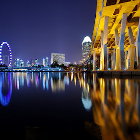 Skyline from another perspective by Ken Goh - City,  Street & Park  Skylines