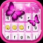 Pink Glitter Emoticon Keyboard Icon