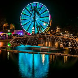 Ferris Wheel by Laxminarayan Channa - City,  Street & Park  Amusement Parks