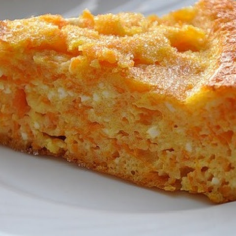 Carrot and Cottage Cheese Pudding