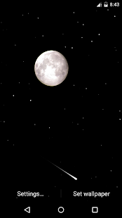 Meteor Night Live Wallpaper - screenshot