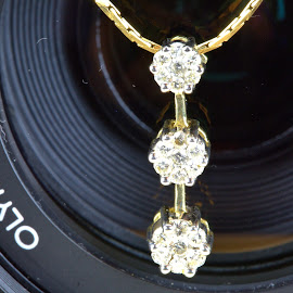 Diamonds and Gold by Cal Brown - Artistic Objects Jewelry ( diamonds, jewelry, artistic object, gold, close up, necklace,  )